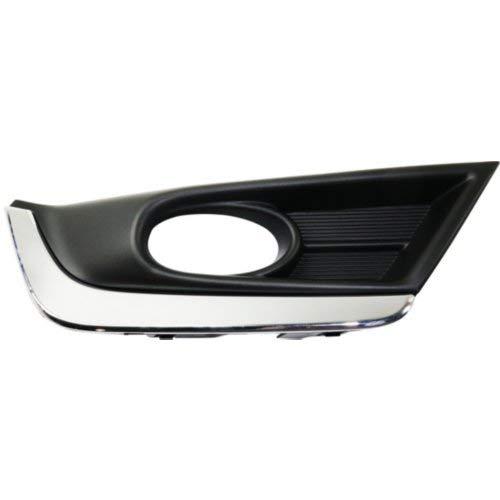 Fog Light Trim Compatible with Honda CR-V 2017-2018 Passenger Side, Side Garnish with Chrome Trim Touring -