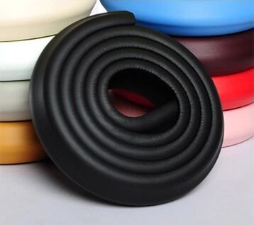 Interbusiness 2M Baby Infant Kids Edge Safe Foam Protective Stripe, Childrenproofing Home Safety Furniture Edge Corner Guard Bumpers Cushion (2m-Black) ()