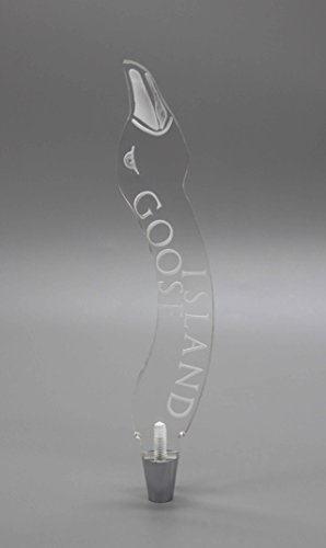 Goose Island Clear Acrylic Plexiglass Beer Tap Handle 14105 (Tap Handle Acrylic)