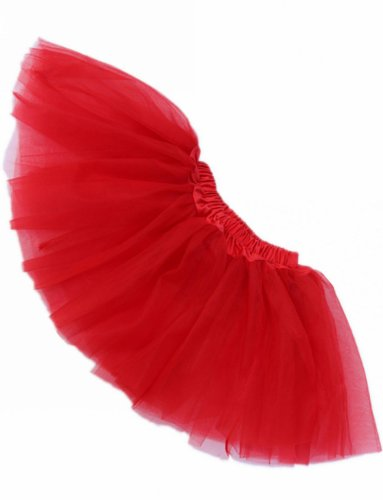Buenos Ninos Girl's Tutu Assorted Colors One Size (Red)