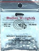 Bullet Weight BW116 Worm Weight