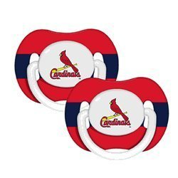 St. Louis Cardinals Pacifiers 2 Pack Safe BPA Free by Baby - St Mall Louis Shopping