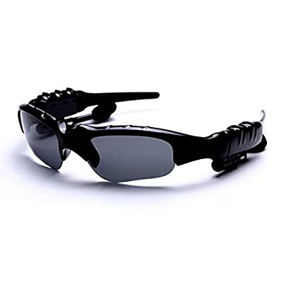 106sasuppg Sunglasses Bluetooth Earphone Outdoor Sport Glasses Wireless Headset with Mic - Yellow