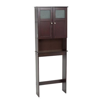Contemporary Style Freestanding Over the Toilet Cabinet in Espresso Finish 66.5'' H x 23.25'' W x 8.25'' D in. by Zenith