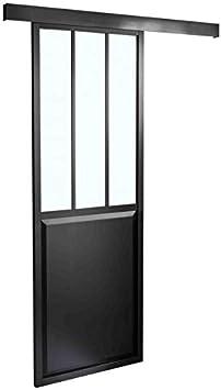 Puerta corredera Type taller en aluminio, 2040 x 830 (H x L): Amazon.es: Bricolaje y herramientas