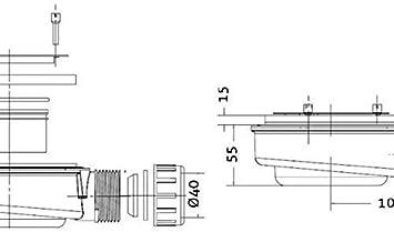 GRIS 7035 RECEVEUR DE DOUCHE RESINE TEXTURE ARDOISE AVEC CADRE 90X150