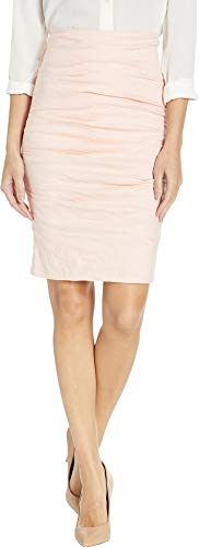 Nicole Miller Women's Cotton Metal Ruched Skirt Peach Daquari 6 from Nicole Miller