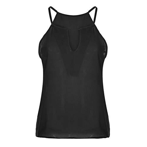 Creux Débardeurs Chemise Poachers Gilet T Manches Shirt Tee Blouse Femmes Camisole Unie Noir En Col V Sans Couleur Tops wSqpqdI