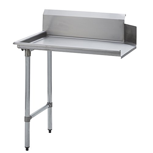 Cross Bracing Work Table - Fenix Sol Stainless Steel Commercial Kitchen Clean Dish Table, Left Side, 30