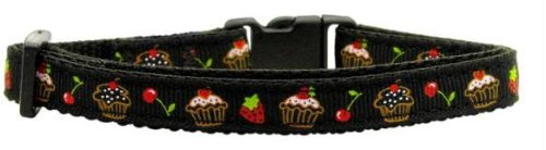 Cupcakes Nylon Ribbon Collar Black Cat Safety (24 Pack) [Misc.]