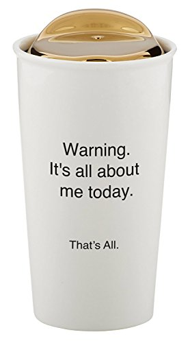 SB Design StudioThat's All Ceramic Double Walled Travel Coffee Mug, Warning