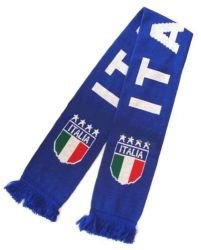 Double Jacquard Knitted Soccer Scarf - Italia (Italy)