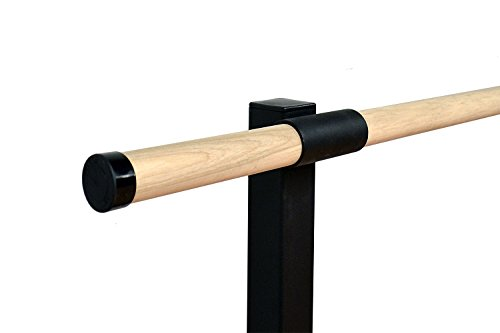 Vita Vibe Ballet Barre - SHD120-W - 10ft. Traditional Wood Double Fixed Height Floor Mount Ballet Bar - Stretch/Dance Bar - USA Made by Vita Vibe Floor Mount Ballet Barres