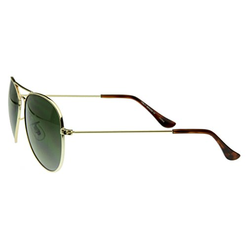 zeroUV - Original Classic Metal Standard Aviator Sunglasses - Nickel Plated Frame