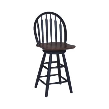 Amazon Com Winsome Wood Wagner Arrow Back Counter Stool