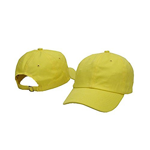 Plan Blank 100% Cotton Dad Hats Baseball Caps For Man And Women (Yellow)