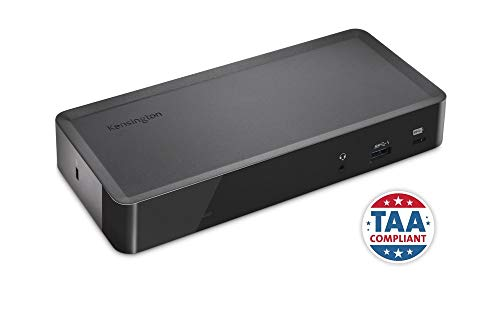 Kensington SD4700P-TAA Compliant USB-C and USB-A 135 Watts Dual Display Docking Station with Power Delivery for Windows and Mac OS (K38605NA-TAA) ()