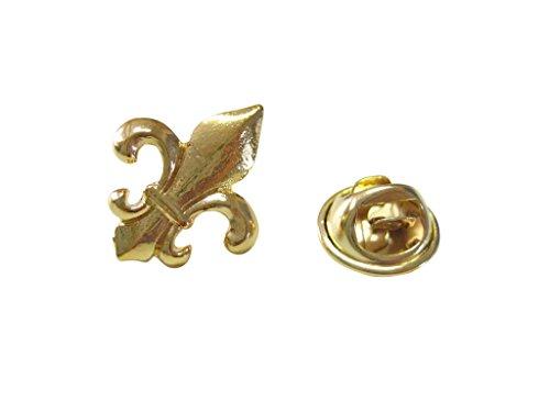 Gold Toned Fleur De Lys Lapel Pin