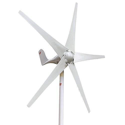 (MarsRock 400W Horizontal Wind Turbine Generator Economy Windmill Turbine Generator for Wind Solar Hybrid System 2m/s Low Star-up Wind Speed AC 12Volt or 24Vollt 5 Blades (400Watt 24Volt))