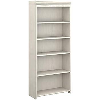 Bush Furniture Fairview 5 Shelf Bookcase In Antique White