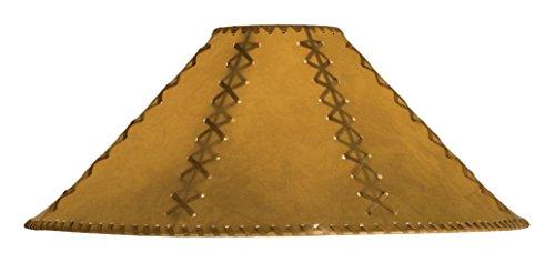 Meyda Tiffany 26357 Faux Leather Tan Hexagon Lamp Shade, 22'' Width x 12'' Height by Meyda Tiffany (Image #1)