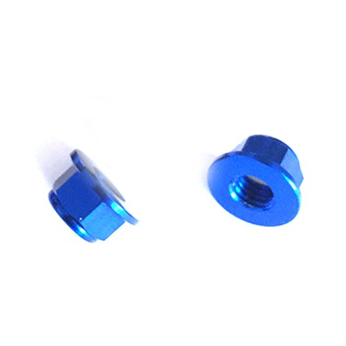 Lock Flanged Aluminum Nut (M5 Nut 5 CW 5 CCW Flanged Nylon Insert Screw Lock Nuts with 1 Motor Bullet Cap Quick-Release Wrench Tool M2/M5/M8/M10 Bullet Cap Hex Nut Driver for RC FPV Racing Drone (Navy Blue))