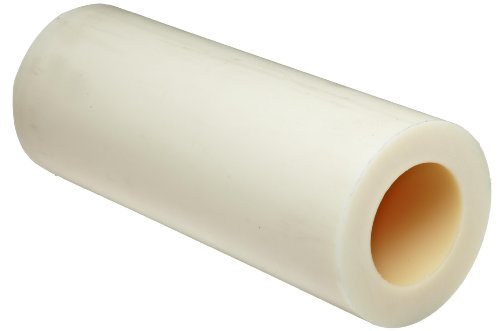 Cast Nylon 6 Round Rod, White, Smooth Finish, ASTM D5989, 2-1/4'' OD, 1-1/4'' ID, 1/2'' Wall Thickness, 1' Length by Small Parts