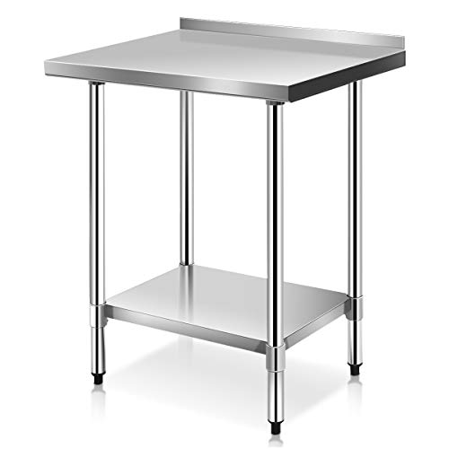 Giantex Stainless Steel Work Prep Table with Backsplash Kitchen Restaurant (24