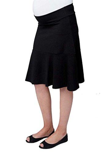 Ripe Maternity Skater Skirt - Black - Large