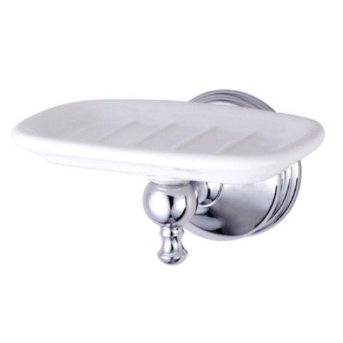 (Kingston Brass BA7615C Naples Ceramic Soap Dish, Polished)