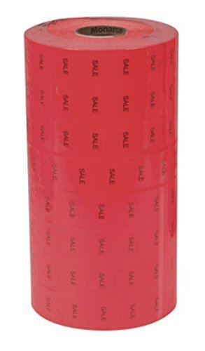 1 Line Red Sale Label Fits Monarch 1131 Handheld Price Labeler Black by Centurion