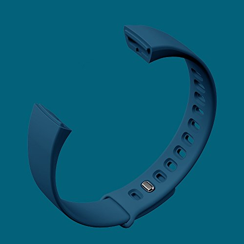 TPU Replacement Bands Straps for kirlor Fitness Tracker Watch V07(Blue)