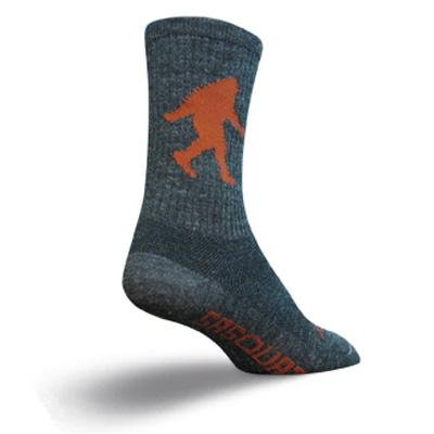 SockGuy Men's Sasquatch 6 Inch Socks, Charcoal, L/XL
