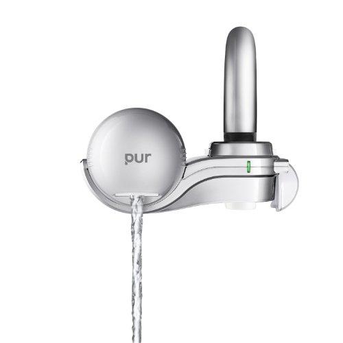 PUR 3-Stage Silver Matte Horizontal Water Filtration Faucet Mount FM-9100B