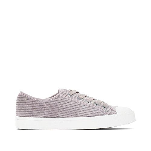 La Redoute Collections Frau Sneakers, Gerippter Kordsamt Gre 38 Grau