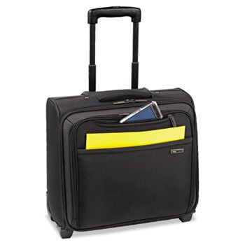 Solo Sterling Rolling Laptop Overnighter, 16.3 x 14.3 x 8.8, Black