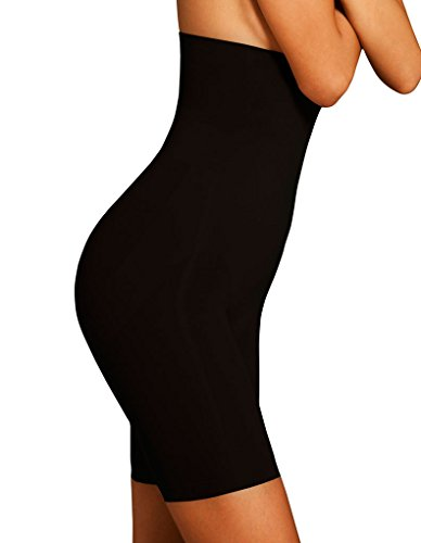 Body Wrap Lites Catwalk High Waist Black Long Leg Panty 47821 X-Large/14 US (Body Wrap Lites)