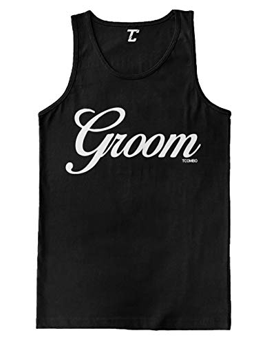 Groom  Husband Wedding Marriage Men#039s Tank Top Black Large