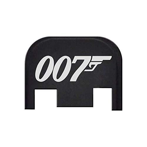 007 Gun Barrel - BASTION Laser Engraved Rear Cover Back Plate for Glock Gen 1-5; Model Compatibility in Description Below. Does not fit Glock G42, G43, G43X, G48 - Bond 007