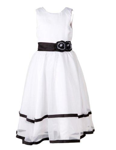 Dressystar Simple Flower Girl Dress Long Communion Pageant Dress Size 14 White (Kids Fancy Dress Next Day Delivery)