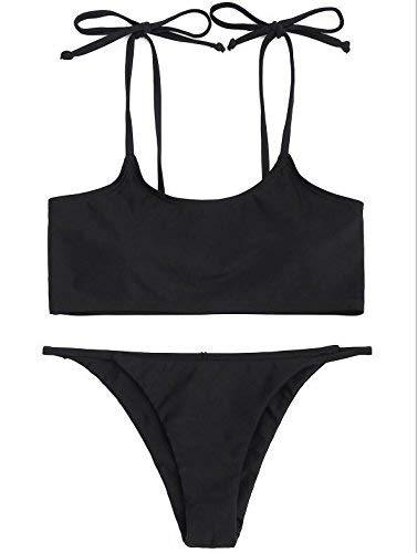 Colored Large pure Américain coloré Bikini De Taille Noir Blanc En Bain Européen Sling Bikini Maillot Le Zhrui Et Eq1Rva5ww