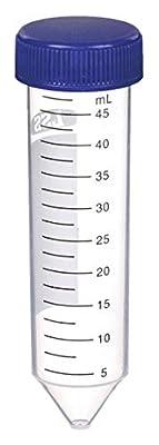 Lab Safety Supply Plastic, 50mL, Polypropylene 6VMY2-1 Each