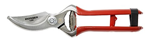 BERGER Tools BERGER Bypass #1280 Pruning Shear for Smaller Hands, Red by Berger Tools Germany