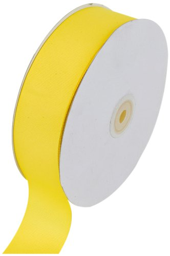 Creative Ideas Solid Grosgrain Ribbon, 1-1/2-Inch by 50-Yard, Canary Yellow]()