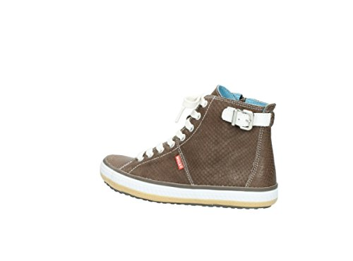 Taupe 1225 Wolky Snake Trainers Biker Leather Womens Print 615 qCYCU