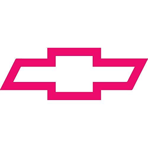 NBFU DECALS Logo Chevy Bow (Pink) (Set of 2) Premium Waterproof Vinyl Decal Stickers for Laptop Phone Accessory Helmet CAR Window Bumper Mug Tuber Cup Door Wall Decoration