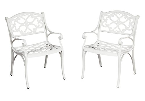 Cheap  Home Styles 5552-802 Biscayne Arm Chair, White Finish, Set of 2