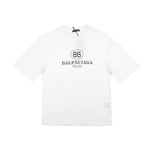 Balenciaga BB Mode Printed Short Sleeves T-Shirt (L) White