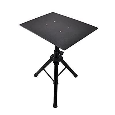 """Pro 28""""- 46"""" Universal Device Stand - DJ Laptop Projector Stand, Height Adjustable Laptop Stand, Computer DJ Equipment Studio Stand Mount Holder, Good For Stage or Studio - Pyle PLPTS4"""