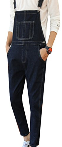 GAGA Mens Big Smith Rigid Bib Overall Blue 30 (Overalls Smith Cotton)